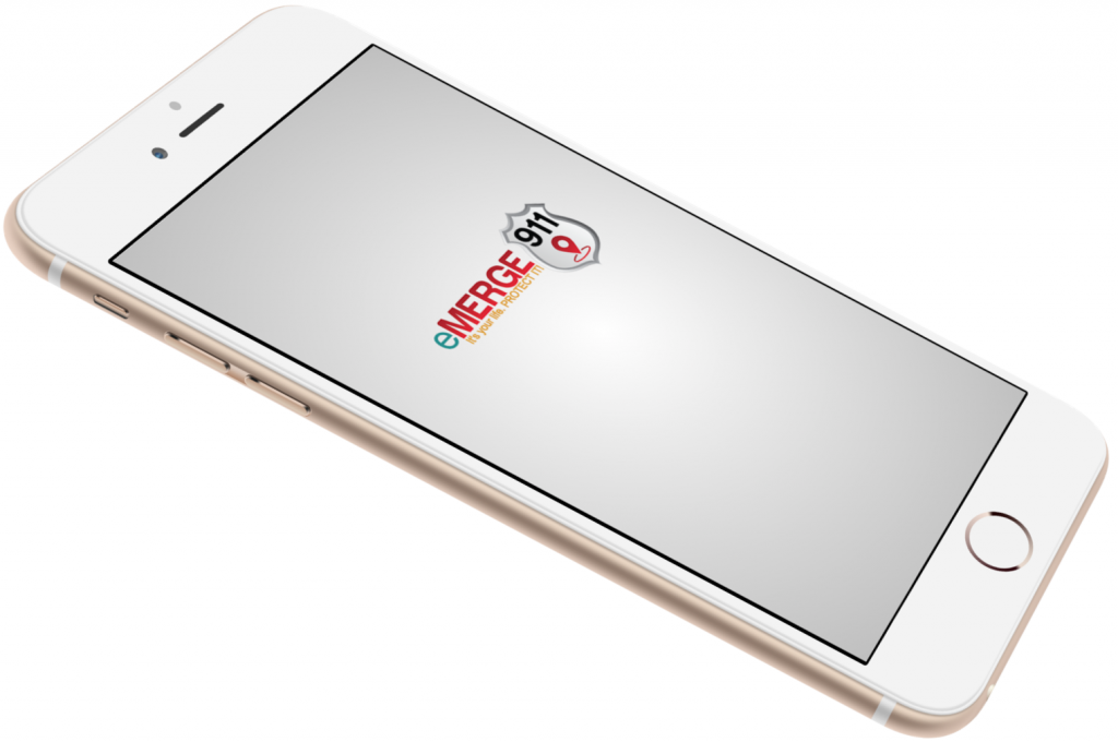 eMERGE 911 phone with app splash screen
